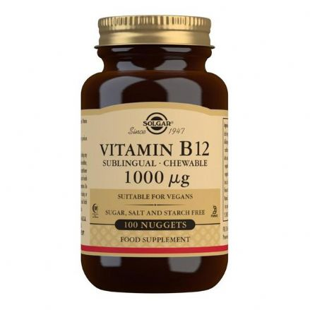 Vitamin B12 1000µg x 100 Sublingual Chewable Nuggets; Cherry Flavour; Solgar